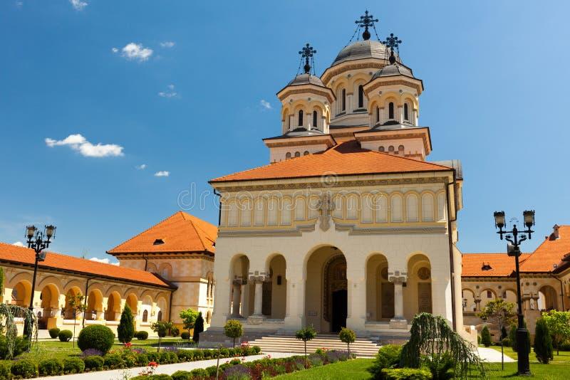 Cattedrale in Iulia alba, Romania di incoronazione immagine stock