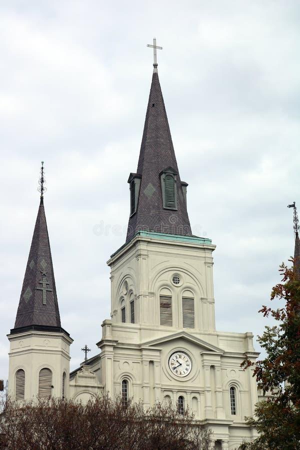 Cattedrale Jackson Square di New Orleans nella città della morte fotografia stock