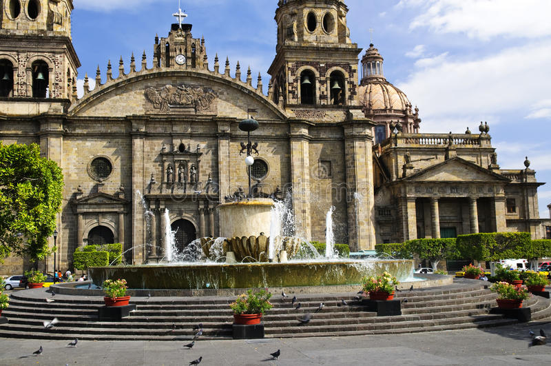 Cattedrale in Jalisco, Messico di Guadalajara immagine stock