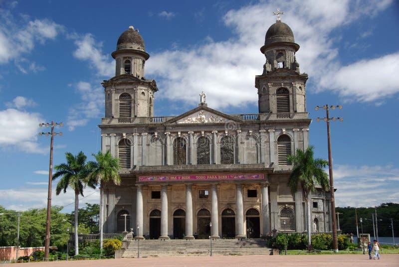 Cattedrale a Managua, Nicaragua immagine stock libera da diritti