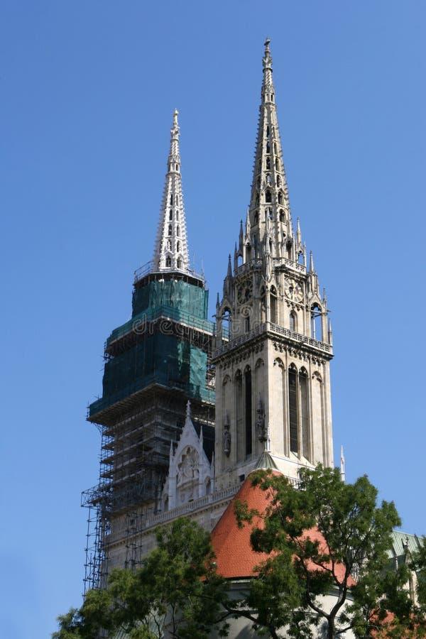 Cattedrale medioevale fotografia stock
