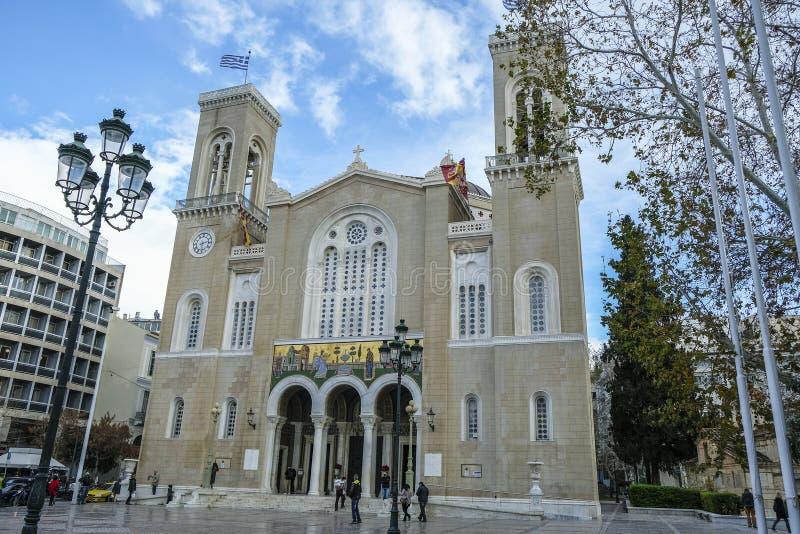 Cattedrale metropolitana di Atene, Grecia immagine stock libera da diritti