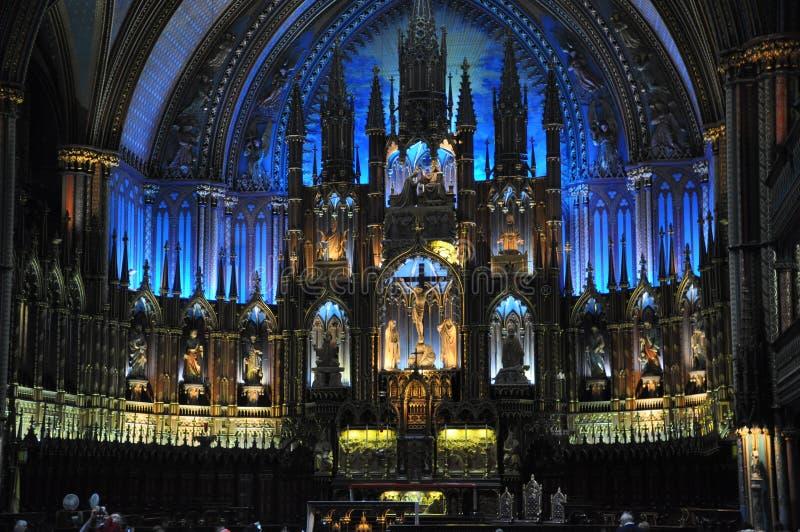 Cattedrale Montreal Quebec di Notre-Dame immagini stock libere da diritti