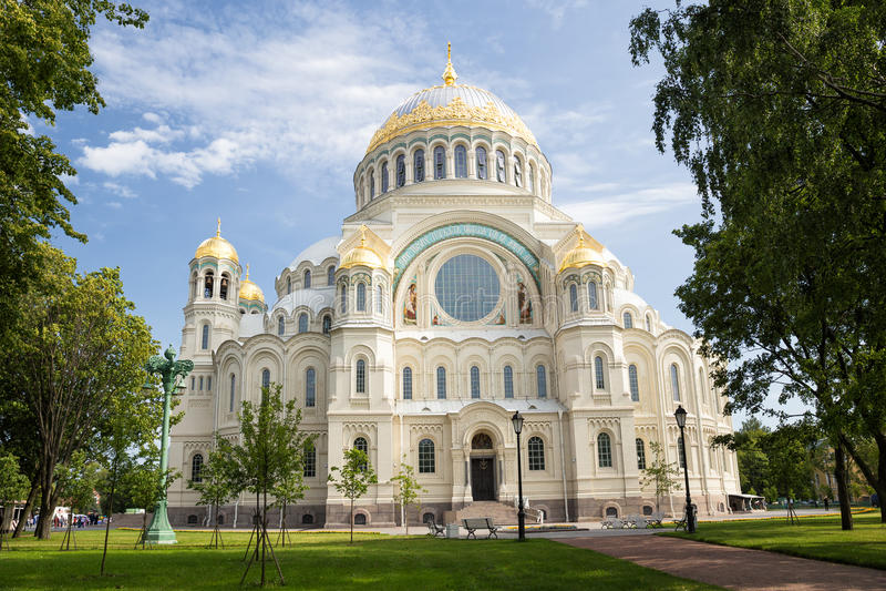 Cattedrale navale del san Nicholas in Kronstadt immagini stock libere da diritti