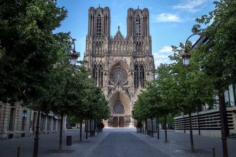 Cattedrale Notre Dame a Reims immagini stock libere da diritti