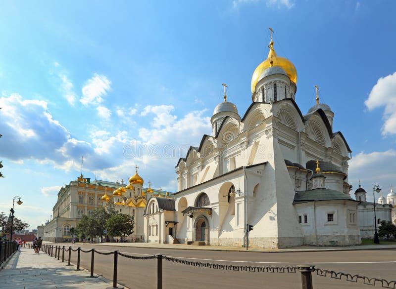 Cattedrale ortodossa antica di arcangelo del Cremlino di Mosca immagine stock libera da diritti
