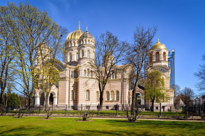 Cattedrale ortodossa russa della natività di Cristo fotografie stock libere da diritti