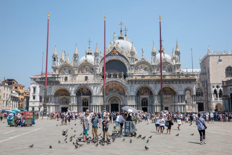 Πανοραμική άποψη της πατριαρχικής βασιλικής καθεδρικών ναών του σημαδιού Αγίου στοκ φωτογραφίες με δικαίωμα ελεύθερης χρήσης