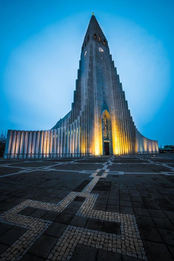 Cattedrale Reykjavik Islanda di Hallgrimskirkja fotografia stock libera da diritti
