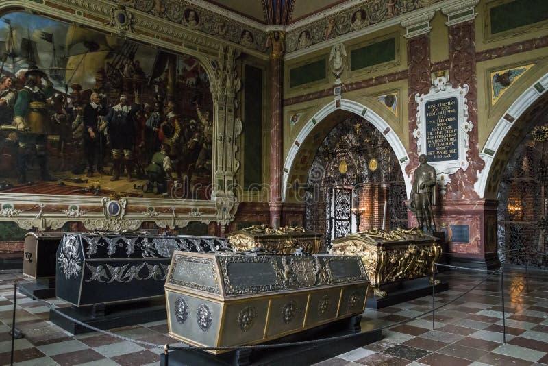 Cattedrale a Roskilde, Danimarca fotografia stock
