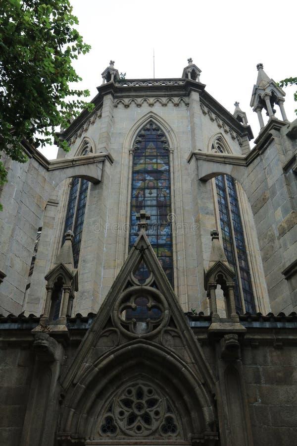 Cattedrale sacra 6 Guangdong - Cina laterali posteriori del cuore di Canton immagini stock