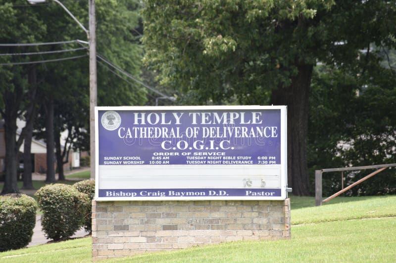 Cattedrale santa del tempio del segno della chiesa di liberazione, Memphis, Tennessee fotografia stock libera da diritti