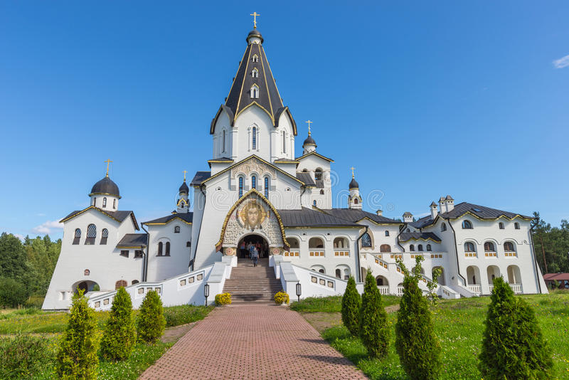 Cattedrale santa-Vladimir Monastero di trasfigurazione di Valaam fotografia stock