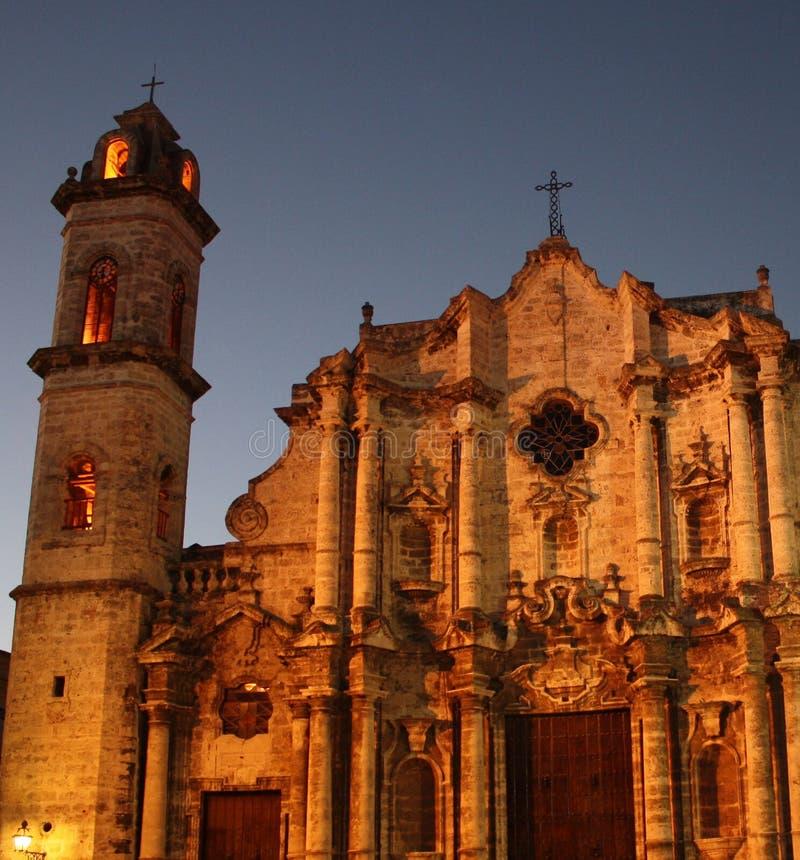 Cattedrale in sera fotografia stock libera da diritti
