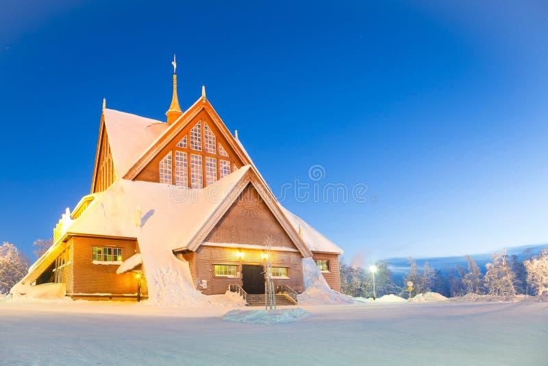 Cattedrale Svezia di Kiruna fotografie stock