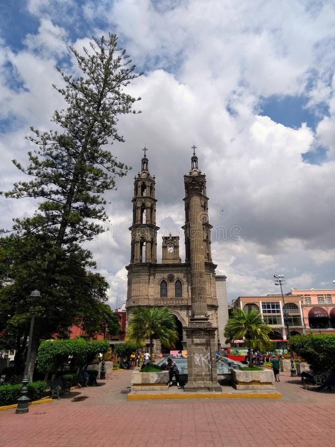 Cattedrale in Tepic, Messico immagine stock