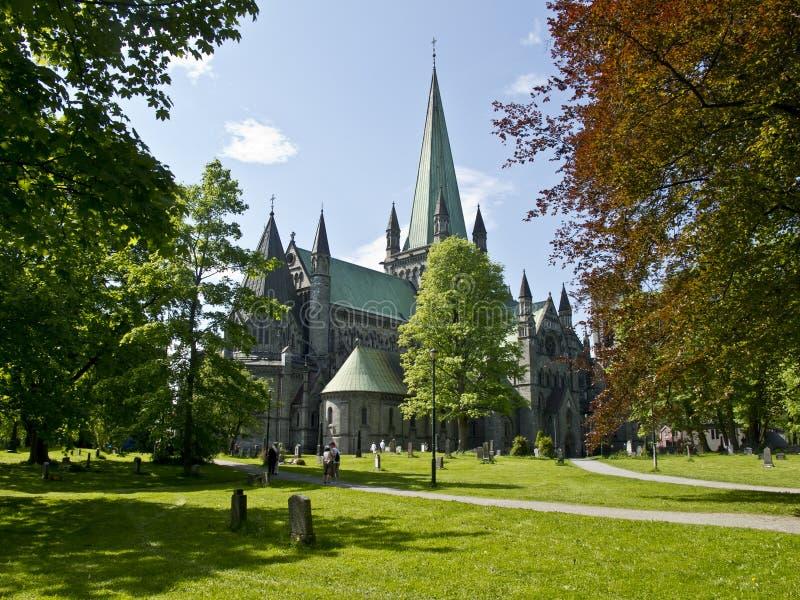 cattedrale a Trondeim, Norvegia, immagine stock