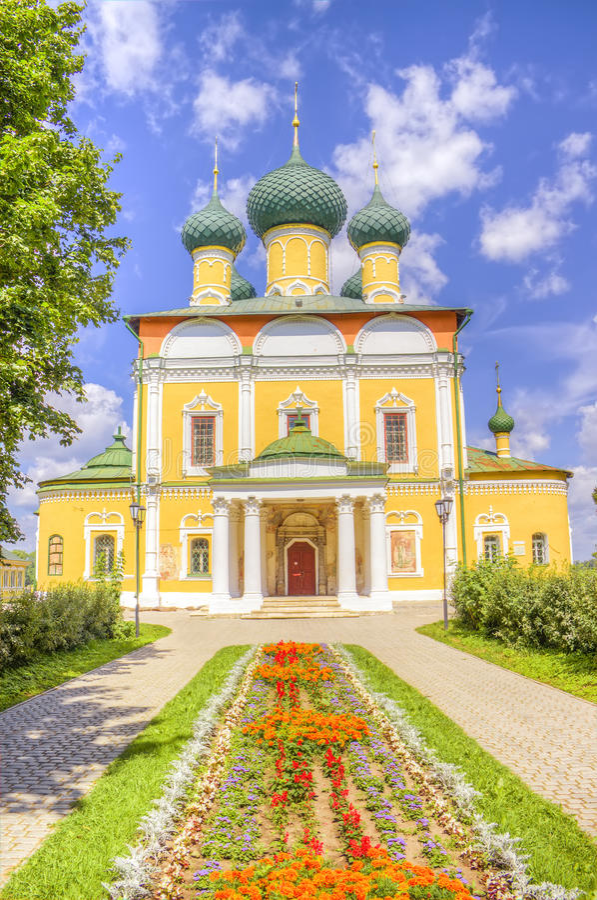 Cattedrale Uglic della Russia Spaso-Preobraženskij immagini stock