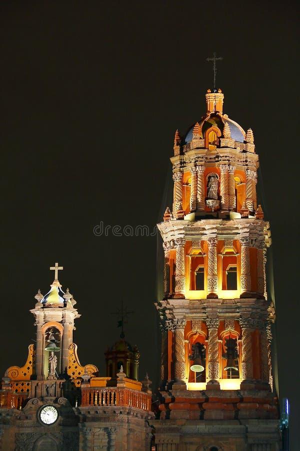 Cattedrale VIII di San Luis potosi fotografie stock