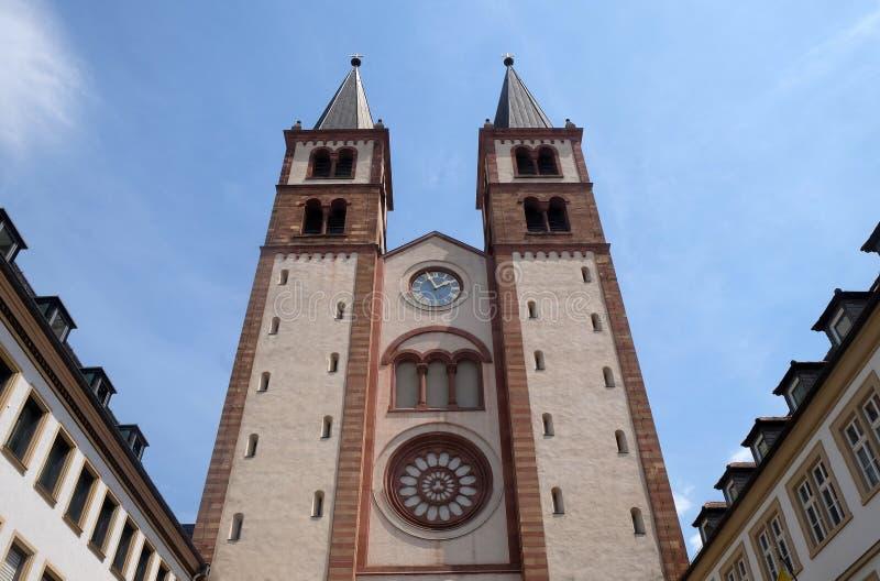 Cattedrale a Wurzburg, Baviera, Germania immagini stock libere da diritti
