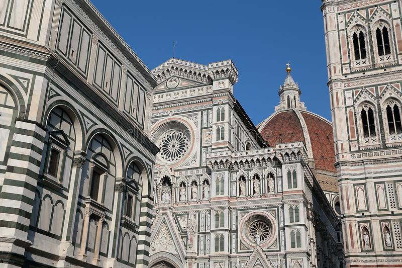 Cattedralen av Santa Maria del Fiore Florence arkivfoto