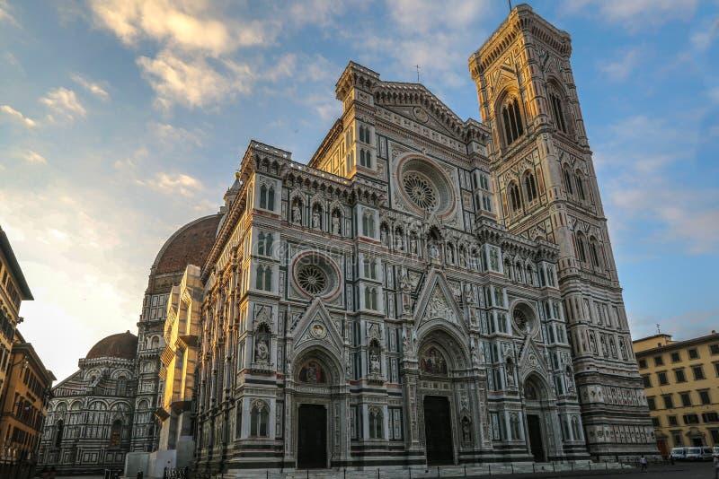 Catthedral van Florence, Italië, vroeg in de ochtend stock fotografie