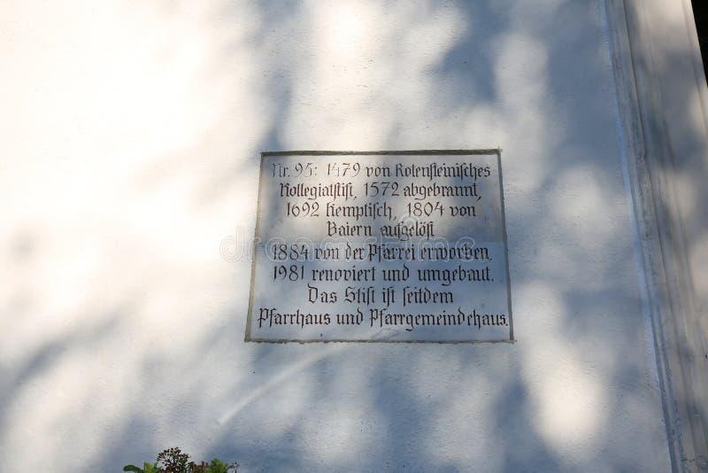 Cattivo Grönenbach è una città in Baviera immagine stock