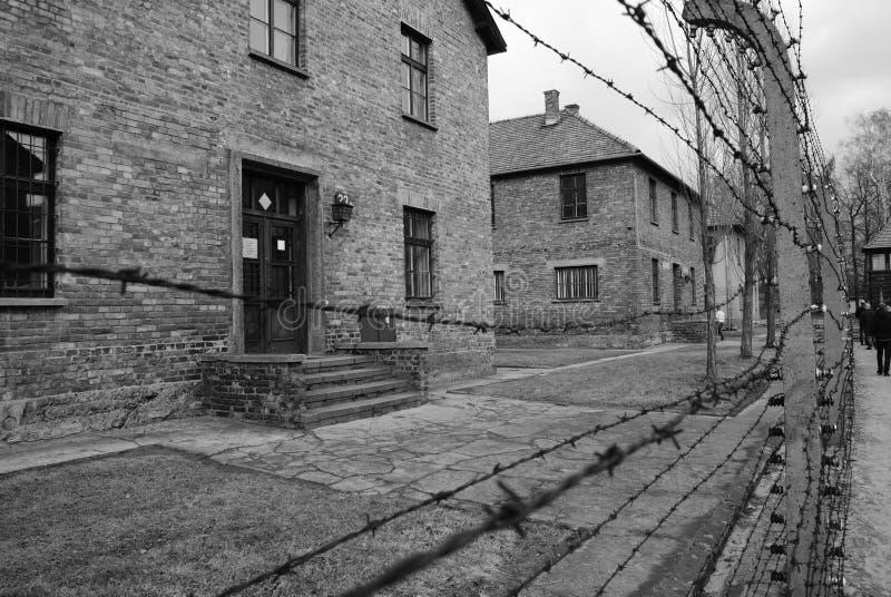 Cattivo sogno a Auschwitz fotografia stock libera da diritti