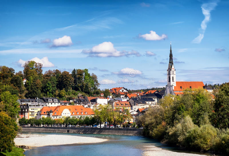 Cattivo Toelz - Baviera fotografia stock libera da diritti