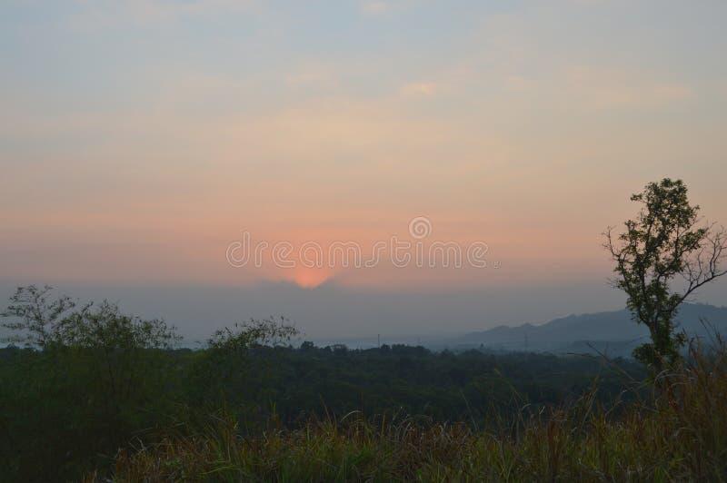 Cattivo tramonto fotografia stock libera da diritti