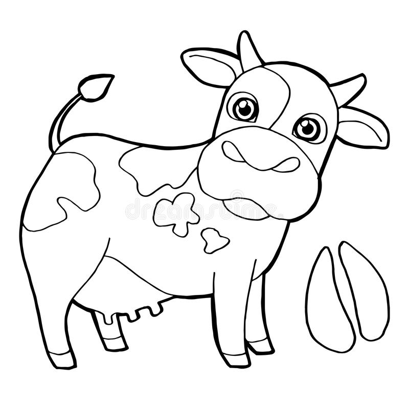 Download Cattle With Paw Print Coloring Pages Vector Stock