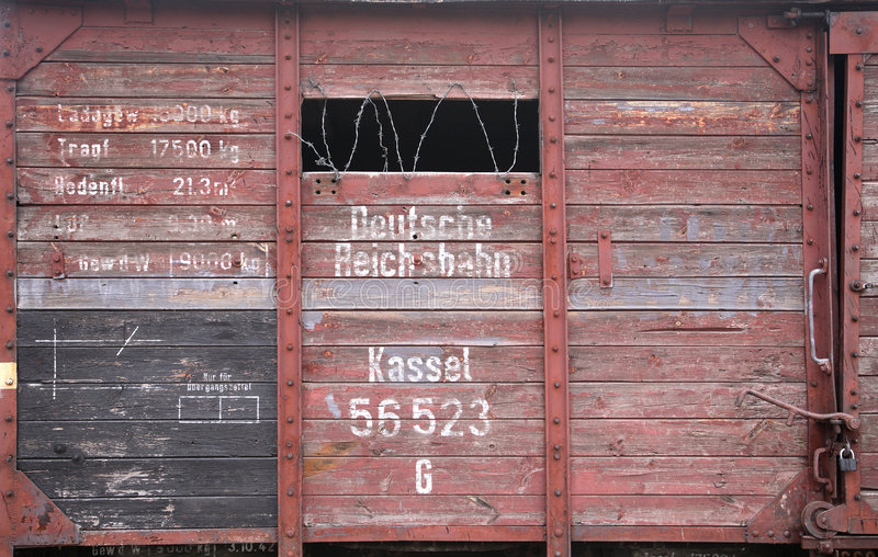 Cattle truck. German cattle truck used in holocaust royalty free stock photo