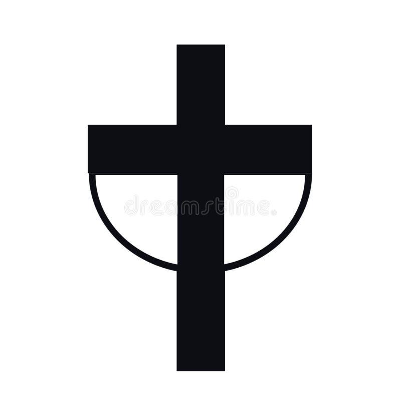 Cattolico, cristianesimo simbolo, croce, croce simbolo, gesù cristo, icona segno di pace illustrazione vettoriale