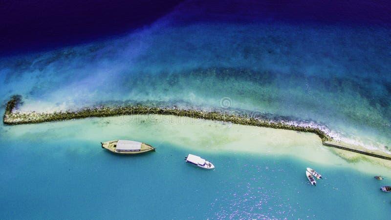 Cattura del porto in Maldive fotografia stock libera da diritti