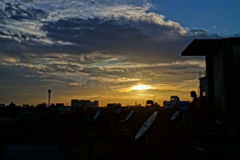 Cattura della sera fotografia stock libera da diritti