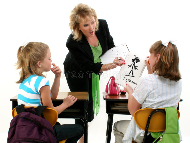 Download Catturato da Teacher fotografia stock. Immagine di ragazze - 210740