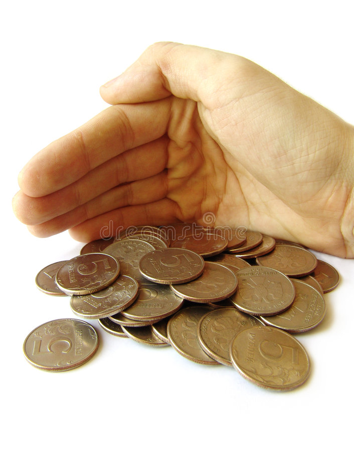 Catturi la cura di soldi fotografia stock libera da diritti