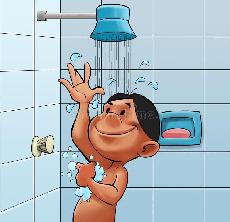 Catturi un acquazzone illustrazione di stock