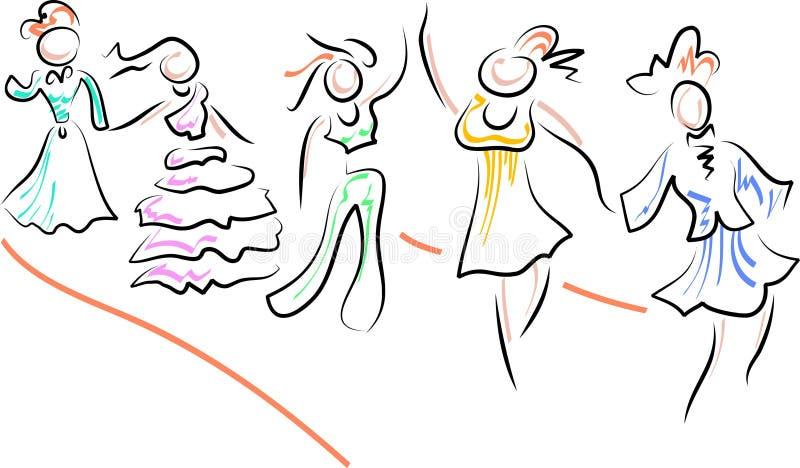 catwalk vektor illustrationer