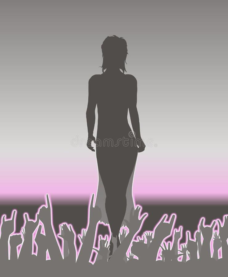 Catwalk Abstact royaltyfri illustrationer