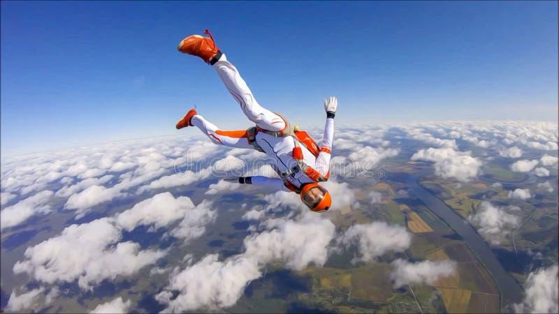 Catwalk La bellezza è nell'aria Moda nel cielo Volo con paracadute Il cielo senza confini illustrazione di stock