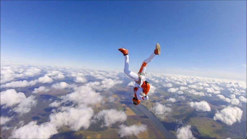 Catwalk La bellezza è nell'aria Moda nel cielo Volo con paracadute Il cielo senza confini illustrazione vettoriale