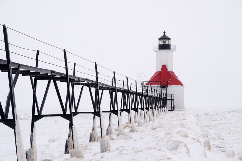 Download Catwalk To St. Joseph North Pierhead Lighthouse Stock Photo - Image: 7982908