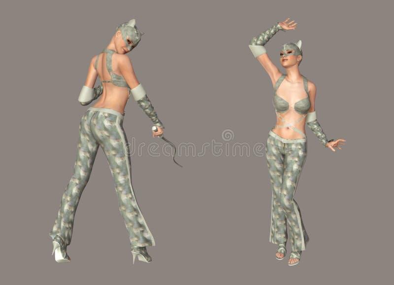 catwoman vektor illustrationer
