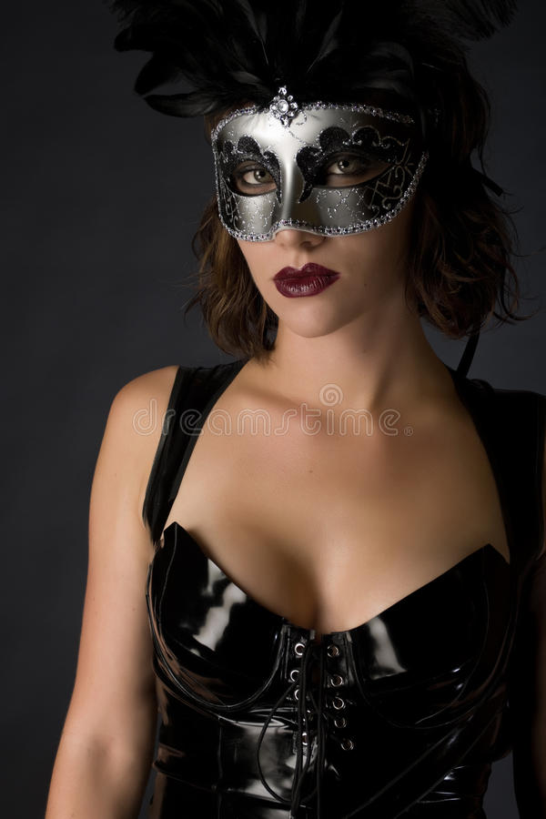 Catwoman Carnival royalty free stock photos
