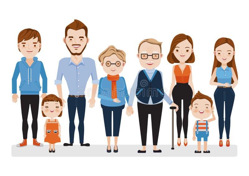 Caucásico de la familia libre illustration
