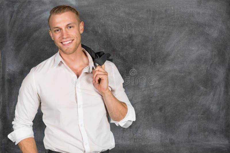 Caucasian affärsman At Work arkivfoto