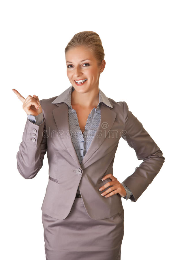 Free Caucasian Blond Businesswoman In Suit Stock Photography - 16111182