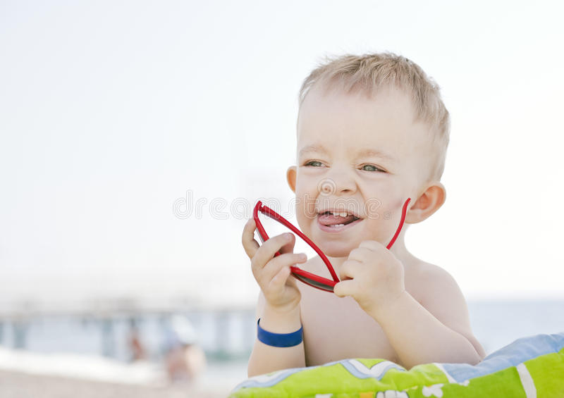 Download Caucasian Boy With Sunglasses Stock Photo - Image: 25183458