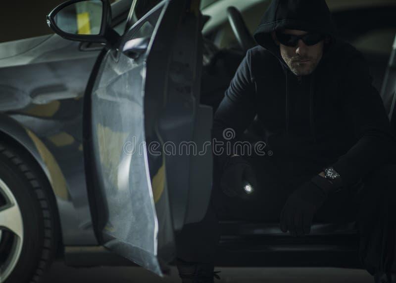 Caucasian Burglar in a Hood royalty free stock photos